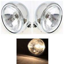 """6"""" Motorcycle 6V Headlight Head Lamp H/Low Beam For Harley Sportster Touring CVO"""