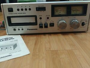 Panasonic RS-808 8 Track Stereo Tape Deck Player / Recorder w/ Manual! Works