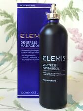 Elemis De Stress Massage Oil - Nourishes Relaxes Soothes - Harmonising 100ml