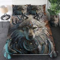 Kids Animal Wolf Bedding Comforter/Duvet/Quilt Cover Set Queen Size Pillowcase