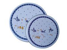 Herdabdeckplatten 4 er Set Küchen Herd Abdeckplatten Motiv Gänse blau