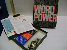 VINTAGE 1967 THE GAME OF WORD POWER by AVALON HILL - MISSING GAME BOARDS