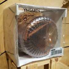 Yngaren Ikea Brown Jar w/ Lid Modern Hobnail Raised Dots Brand New - Swanky Barn
