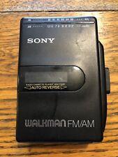Vintage Sony Walkman Wm-F2061 Stereo Cassette Player Fm/Am Radio Auto Reverse