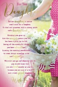 """For A Wonderful Daughter Birthday Card. Great Quality. Large Card 9"""" x 6"""""""