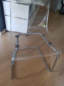 Ikea Stuhl Tobias, Acryl, gebraucht