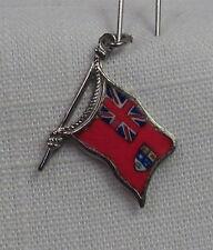Vintage REU Sterling/Enamel Canada - Canadian Red Ensign Flag Shaped Charm