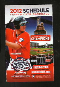 New Hampshire Fisher Cats--Travis D'Arnaud--2012 Schedule--Executive Health