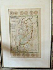 ANTIQUE NOTTINGHAMSHIRE BY MOLL C1724 MAP FRAMED