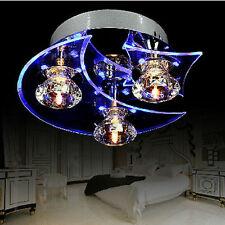 Home Blue Crystal LED Pendant Lamp Lighting Ceiling Light Rain Drop Chandelier
