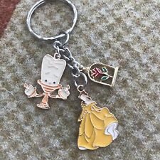 Disney Inspired Belle Beauty And The Beast Key Ring