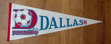 VINTAGE NASL DALLAS TORNADO SOCCER FULL SIZE PENNANT UNSOLD CONCESSIONS STOCK