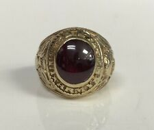 10K Vintage US Army Ring with Ruby by Lord Harris (sz 8.25)