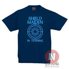 Escudo Doncella Infantil Niños Camiseta 1-4 Años Niño Vikingos Norsemen
