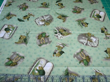 1.3 Yards Quilt Cotton Fabric - Clothworks Frog and Toad Together Toss Green