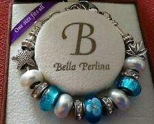 Stunning Bella Perlina Bracelet with Turqoise and Pearl beads in vgc