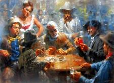Draw Poker by Andy Thomas Western Art Print Signed and Numbered