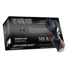 Microflex MK-296M MidKnight Black Nitrile Gloves - Medium, 10 Boxes