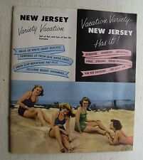 Travel Booklet For New Jersey Variety Vacation 1950's