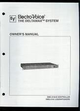 EV Electro-Voice Deltamax DMC-2181X Controller/DMS-2181 Speaker Owner's Manual