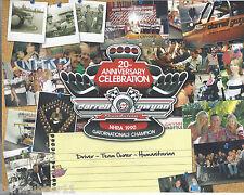 2013 DARRELL GWYNN FOUNDATION 20TH ANNIVERSARY TOP 50 NHRA DRIVER DRAG POSTCARD