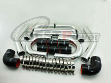 "3"" INCH  76mm  UNIVERSAL ALUMINUM INTERCOOLER TURBO PIPE PIPING KIT / BLACK"