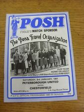 03/01/1981 Peterborough United v Chesterfield [FA Cup] . Good condition unless p