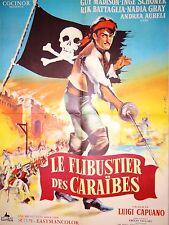 LE FLIBUSTIER DES CARAIBES  ! affiche cinema pirate