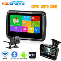 "Android 4.3"" Motorcycle GPS With DVR Moto Navigator Sat Nav Navigation + Maps"