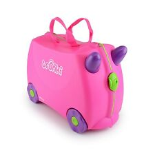 Kids Toddler Ride on Suitcase Trunki Toy Ride Games Girls Travel Luggage Pink