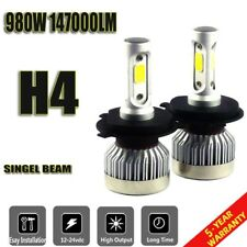 Pair H4 9003 HB2 980W 147000LM Car LED Headlight Bulbs COB 6500K White US
