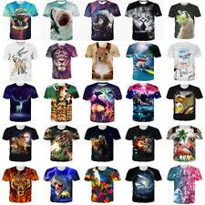 Animal Funny 3D Print Womens Mens Summer Casual T Shirt Short Sleeve Graphic Tee