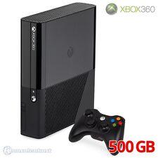 Microsoft Xbox 360 - Konsole E 500 GB #schwarz + Original Controller + Zub.