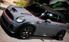 Mini One - JCW R56, 55, 57, 58, 59 Grill covers, Black top, Red bottom 2006-2013