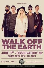 WALK OFF THE EARTH 2015 SAN DIEGO CONCERT TOUR POSTER- Indie/Alt/Reggae Rock,Ska