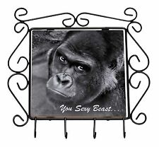 Gorilla 'You Sexy Beast' Wrought Iron Key Holder Hooks Christmas Gift, AM-12KH