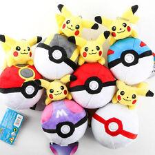 6 Pikachu Riding on Pokeball Pokemon Stuffed Animal Soft Plush Toy 7 Inches Tall