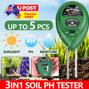 3 in 1 Soil PH Tester Water Moisture Test Monitor For Garden Pot Plant Lawns AU