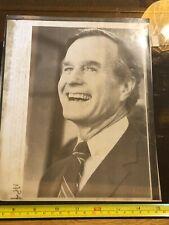 Tabloid Paper Original Press Photo of a Photo 1980 George Bush Texas