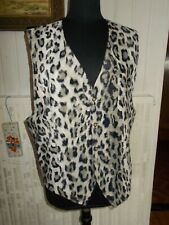 Gilet de costume habillé soie style peau de vache poils LE GARAGE XL 44/46 ESH6