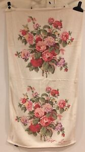Ralph Lauren Brooke Sophie Bath Towel Floral Vintage
