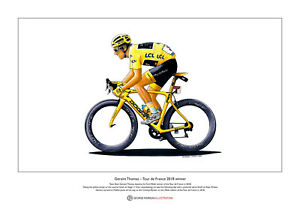 Geraint Thomas - Tour de France 2018 Winner - Limited Edition Fine Art Print A3