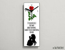 Beauty and the Beast - I've never felt this way about anyone ...- Wall Clock