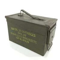 VTG Army Military Ammo Box 384 Cal .30 Cartridges Bandoleers Storage Man Cave