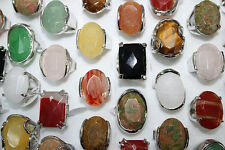 Job lots 25pcs nature gemstone silver P charme immense multicolor Nouveau Dame Bijoux