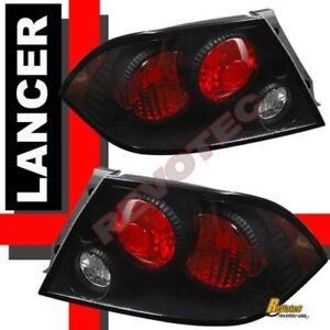 2002 2003 Mitsubishi Lancer ES OZ Rally LS Tail Lights Black 1 Pair