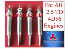 L200 HEATER GLOW PLUGS X 4 PAJERO SHOGUN CANTER MITSUBISHI 4D56  2.5 TD DIESEL