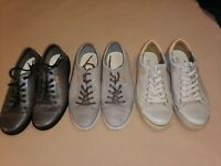 Three pairs of ECCO Soft Leather Sneakers Shoes Lace-Up Casual Comfort Men's 45
