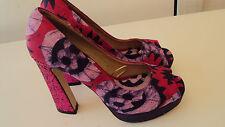 ANKARA Print Ladies Pair of Heels / Shoes in Pink Multi - UK 5 EU 38