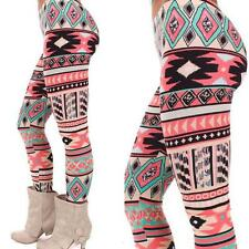 Sexy Women Xmas Snowflake Reindeer Knitted Leggings Skinny Pencil Pant Trousers